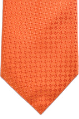 Canali Silk Tie Orange Solid - Wide Necktie