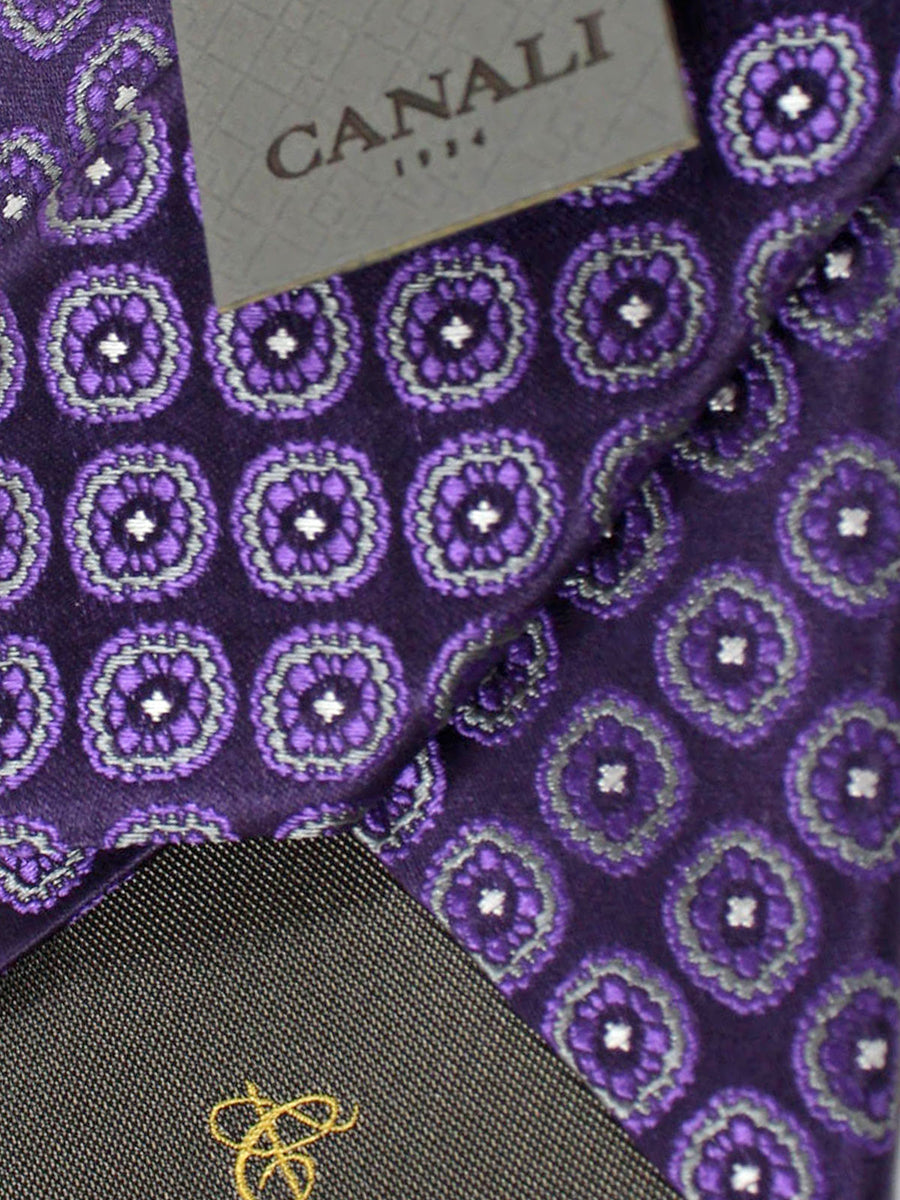 Canali Tie Purple Medallions