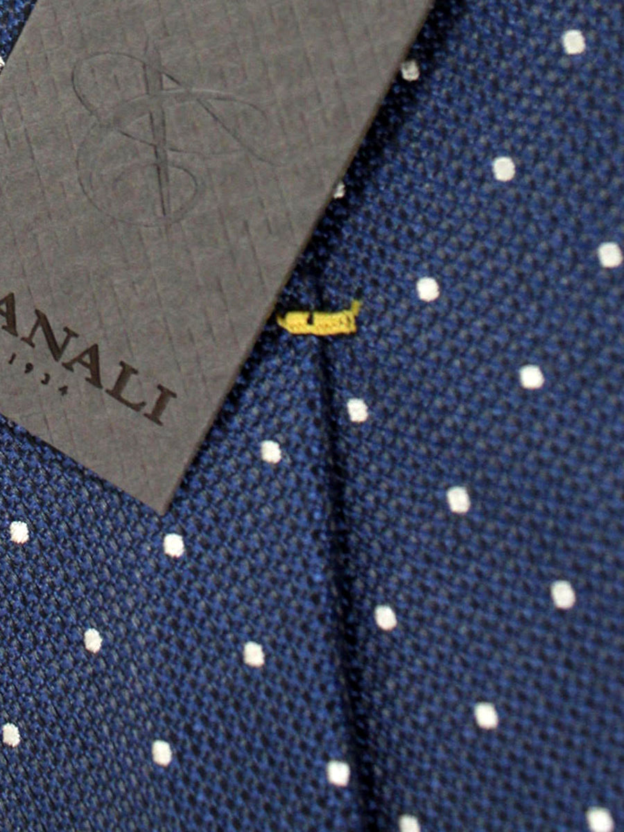 Canali Tie Gray Blue Silver Circles