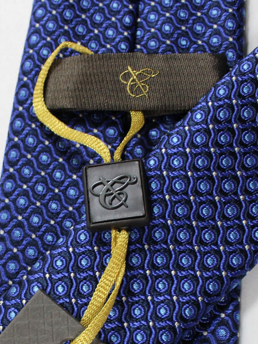 Canali Silk Tie Navy Purple Blue Geometric