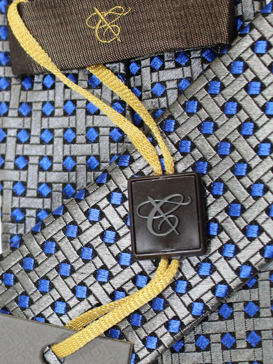Canali Tie Gray Royal Geometric Design