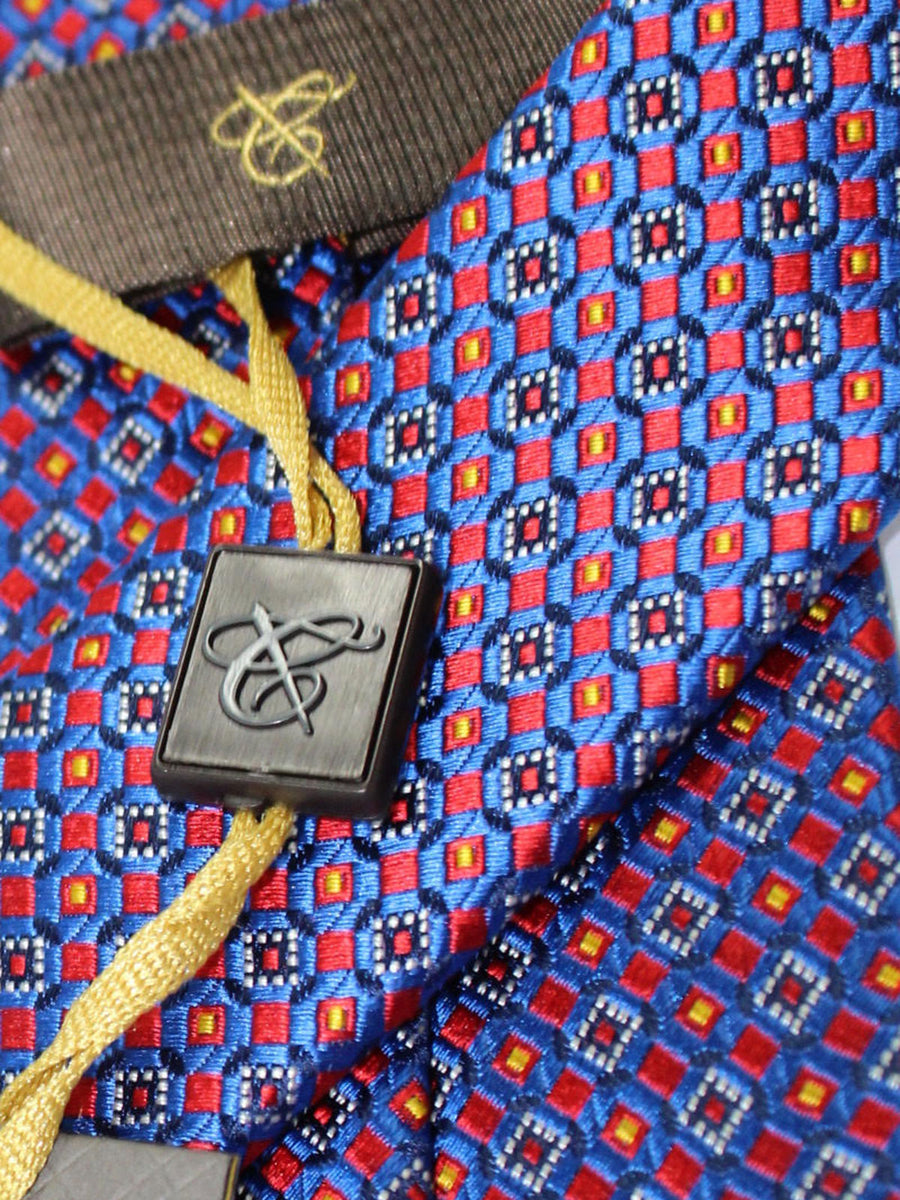 Canali Tie Royal Red Geometric Design