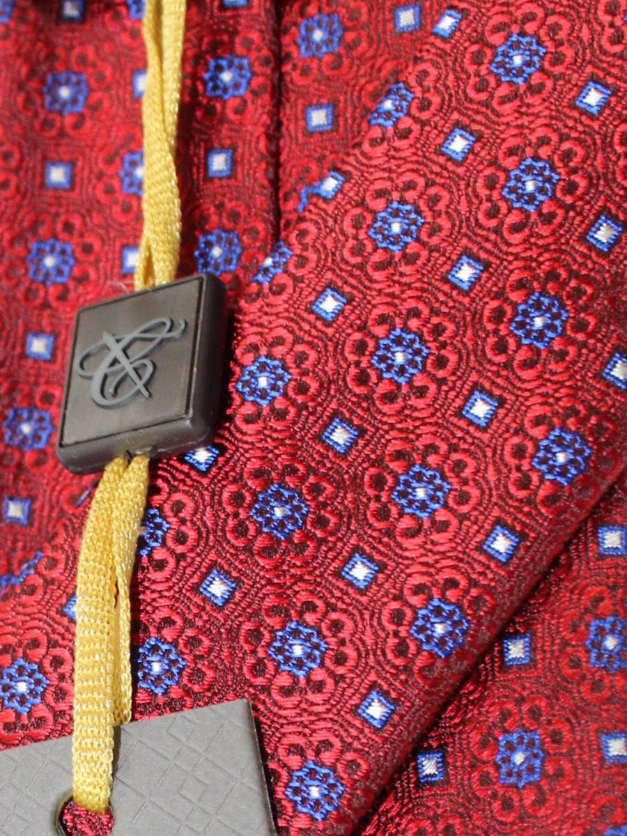 Canali Tie Red Royal Medallions Design