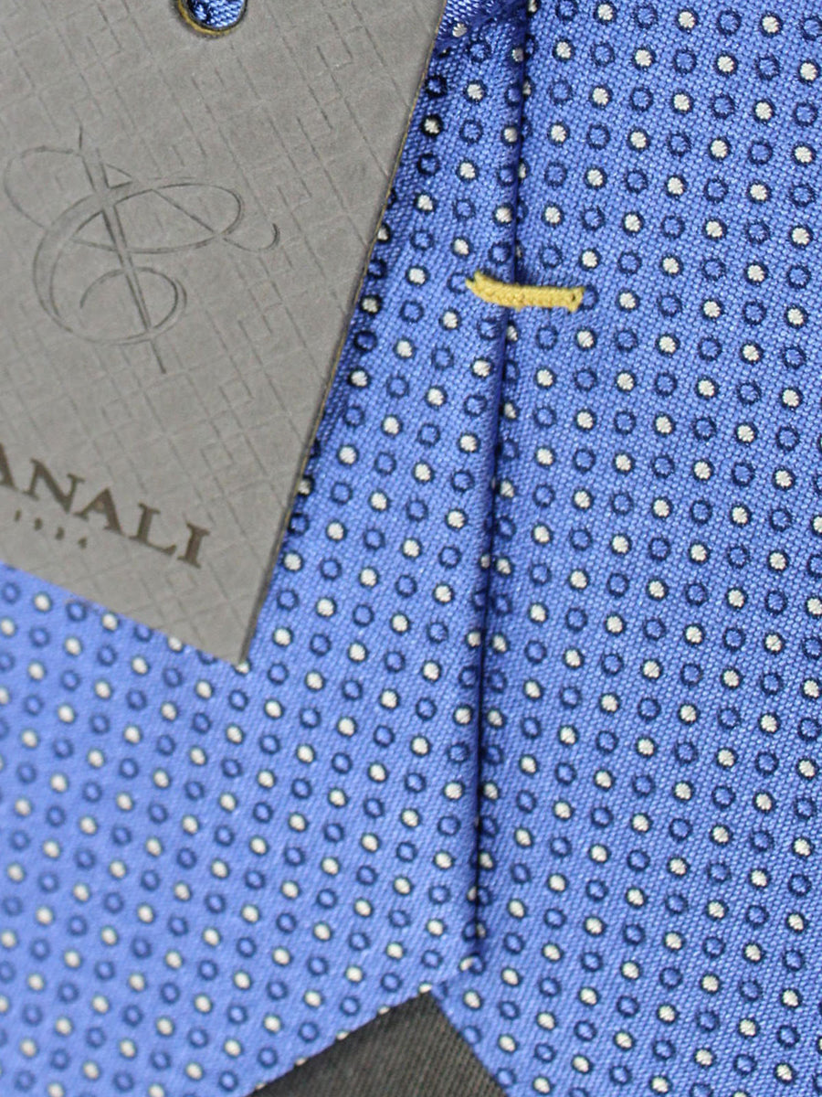 Canali Tie Blue Purple Dots Design