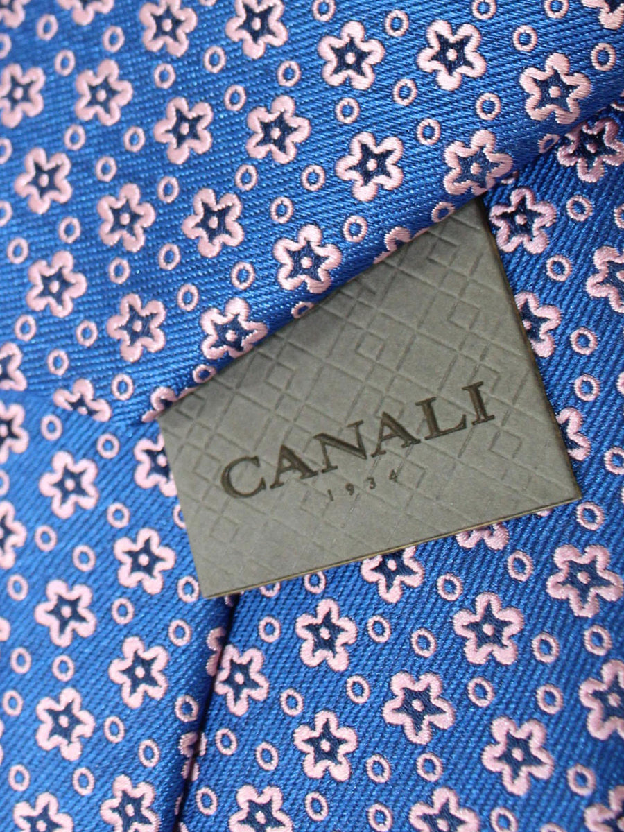 Canali Necktie Royal Pink Geometric Design