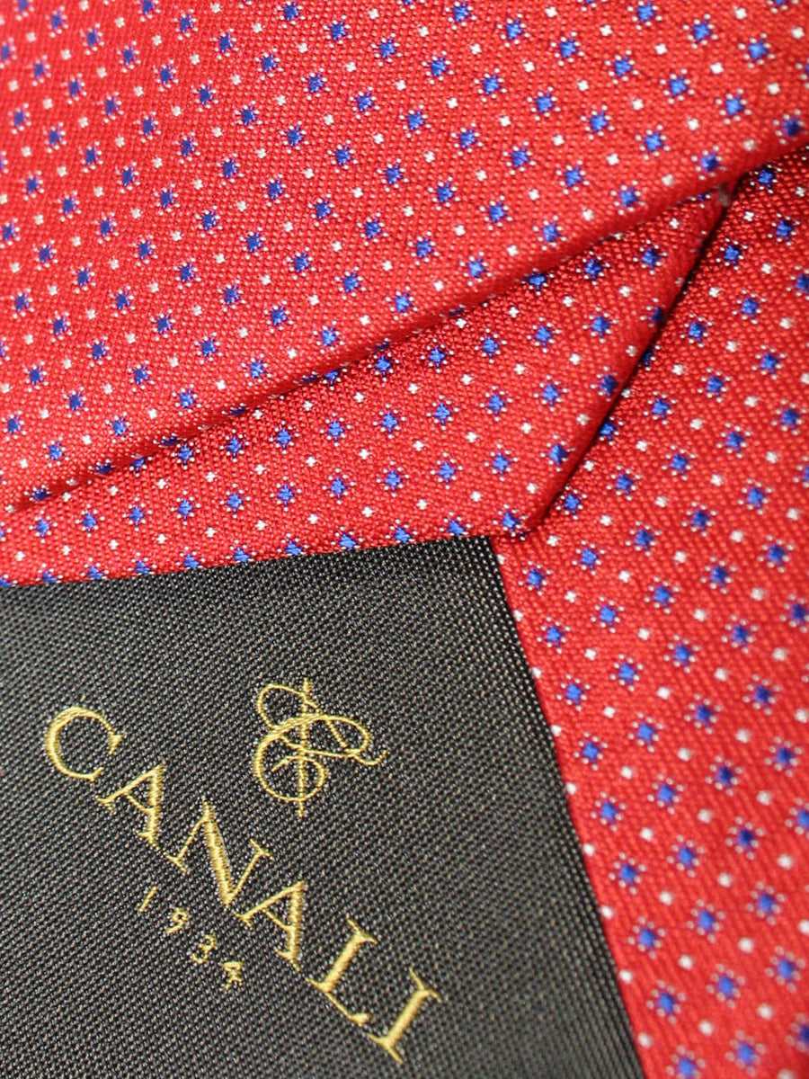 Canali Necktie Red Geometric Design