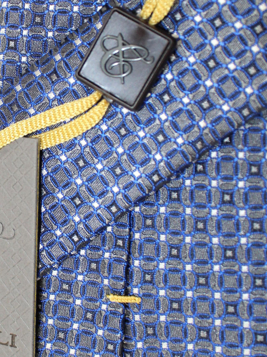 Canali Necktie Gray Royal Geometric Design