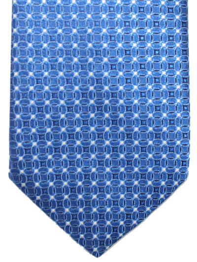 Canali Necktie Navy Royal Silver Geometric Design