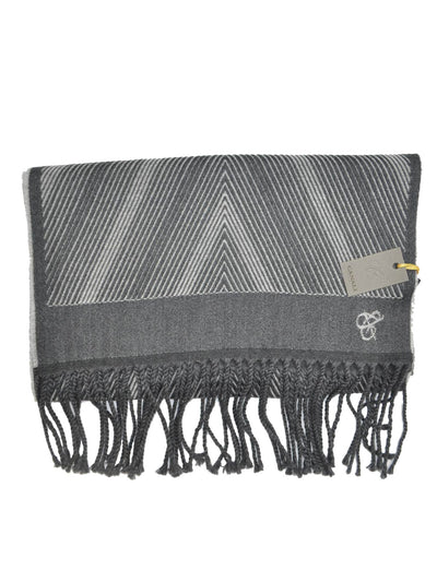 Canali Wool Scarf Charcoal Gray