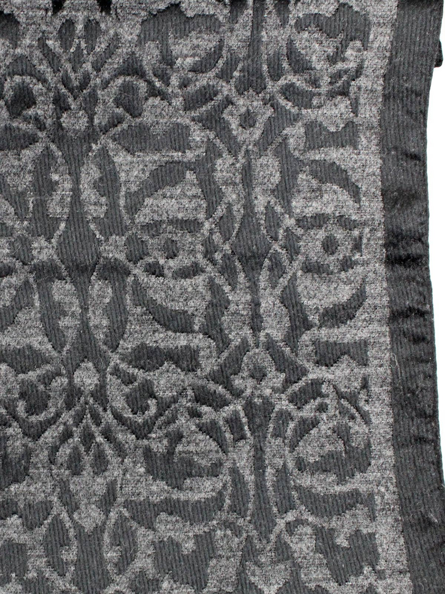 Canali Scarf Charcoal Gray Design Silk Wool