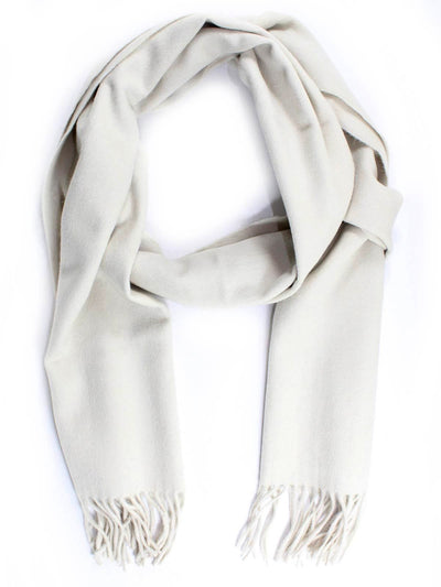 Canali Scarf Solid Light Gray Angora Wool