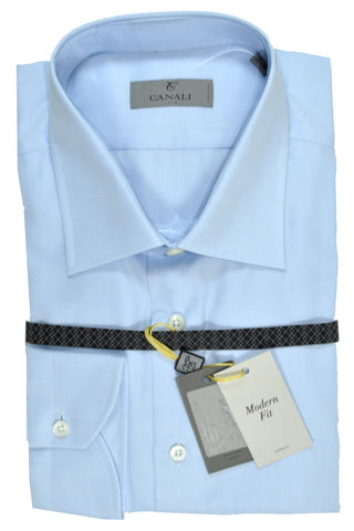 Canali Dress Shirt Light Blue - Modern Fit 40 - 15 3/4 SALE