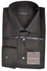 Canali Shirt Gray Pin Stripes 42 - 16 1/2 FINAL SALE