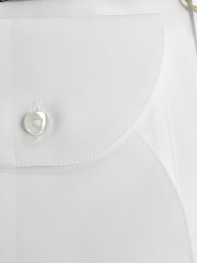 Canali Shirt White - Slim Fit Dress Shirt 45 - 18