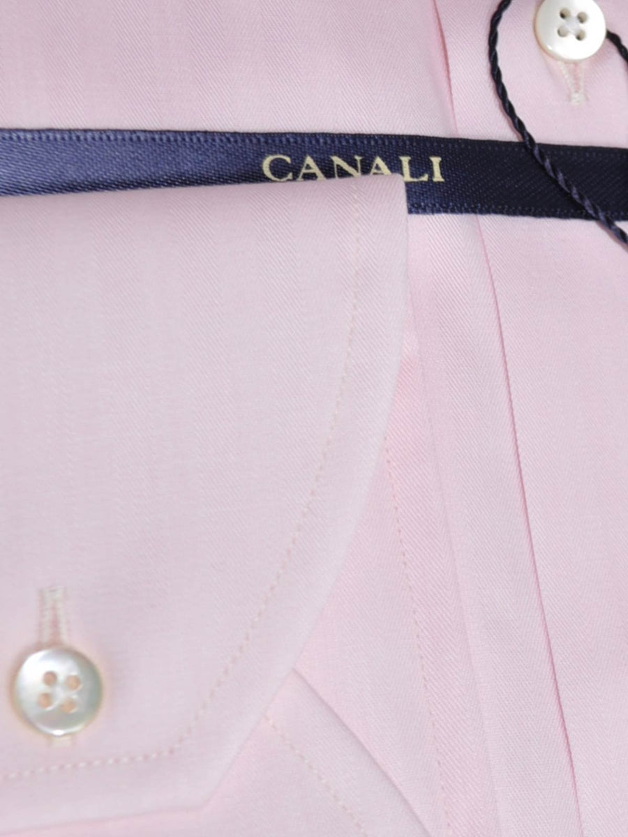 Canali Dress Shirt Light Pink 45 - 17 3/4 SALE