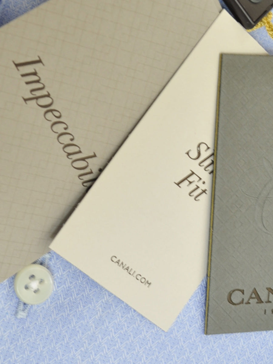 Canali Dress Shirt Periwinkle Blue Impeccable