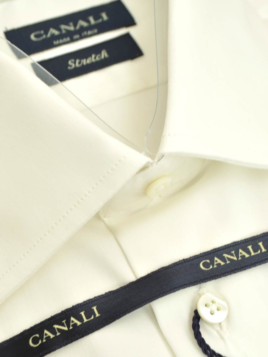 Canali Dress Shirt Off White 40 - 15 3/4 SALE