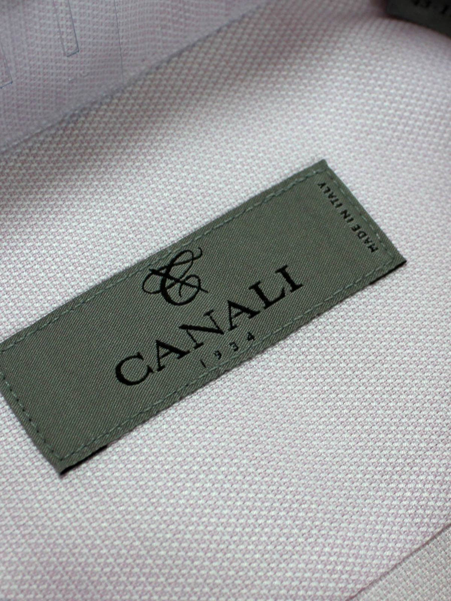 Genuine Canali Dress Shirt Light Pink Slim Fit