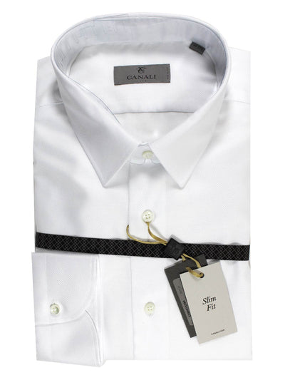 Canali Dress Shirt Solid White