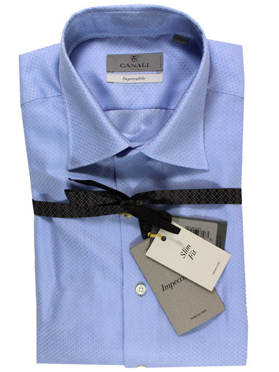Canali Shirt Periwinkle Blue Impeccabile - Slim Fit Dress Shirt