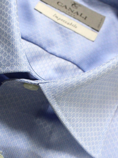 Canali Shirt Periwinkle Blue Impeccabile - Slim Fit Dress Shirt 40 - 15 3/4