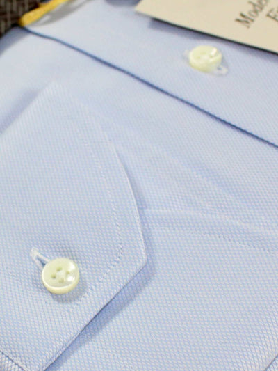 Canali Dress Shirt Light Blue - Modern Fit 43 - 17