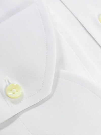 Canali Shirt Solid White Modern Fit Stretch  Men