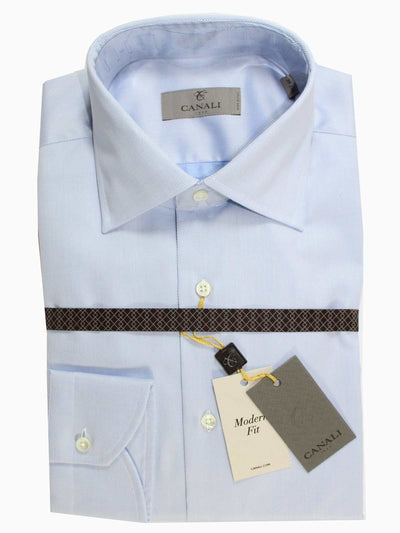 Canali Dress Shirt Blue  New