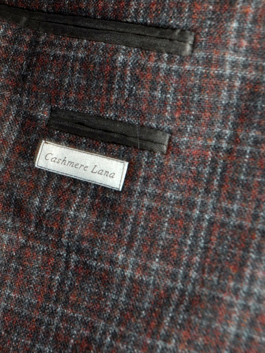 Canali Sport Coat Gray Burgundy