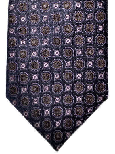 Canali Tie Purple Pink Olive Brown Design SALE
