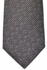 Canali Tie Charcoal Gray Silver