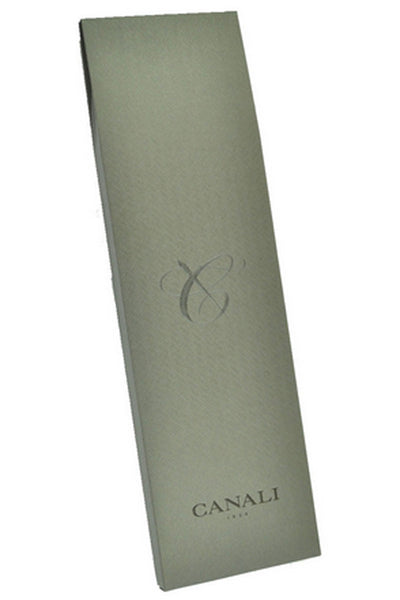 Canali Tie Brown Gray Green Plaid Cashmere Silk Tie Double Sided Exclusive Collection - FINAL SALE