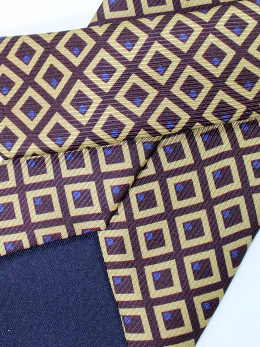 Stefano Cau Tie Brown Geometric