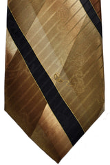 Carnaval de Venise Silk Tie Taupe Stripes Design SALE
