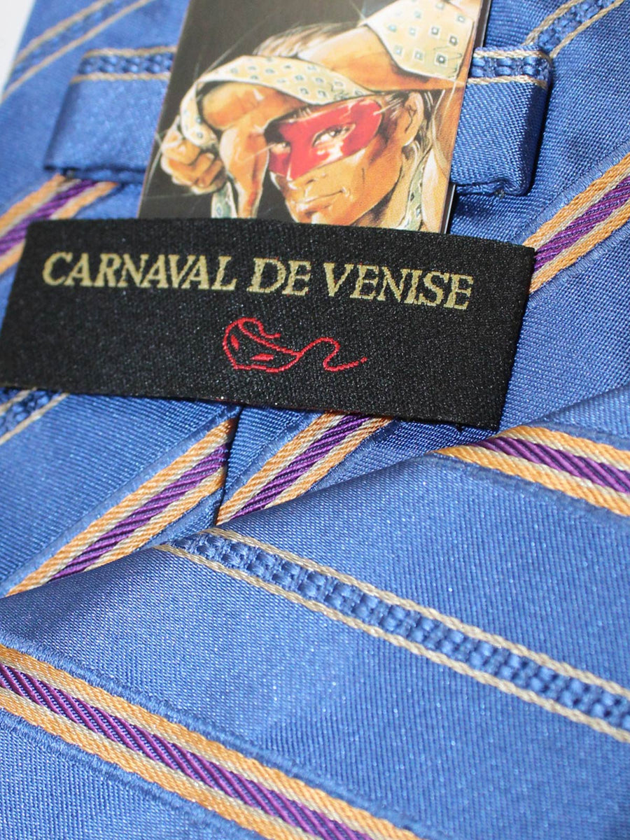 Carnaval de Venise Silk tie Blue Stripes SALE