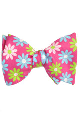 Carrot & Gibbs Bow Tie Pink Flowers