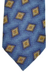 Charvet Tie Blue Navy Yellow Diamonds