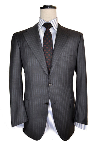 Kiton Suit Gray Stripes EUR 54 - US 43/ 44
