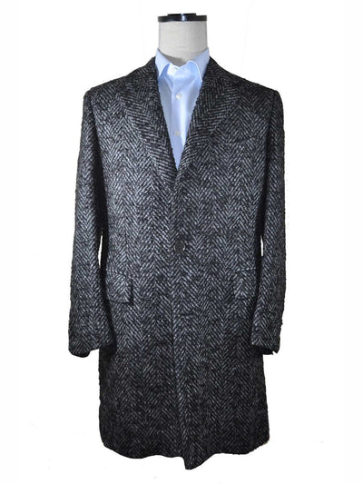Kiton Coat Charcoal Gray Wool Mohair Alpaca Overcoat