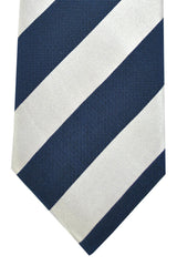 Corneliani Tie Navy Lilac Pink Stripes