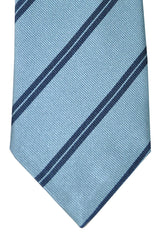 Corneliani Tie Blue Navy Stripes