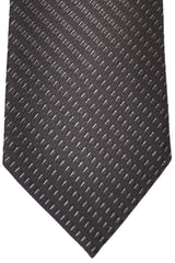 Corneliani Tie Dark Olive Silver Stripes