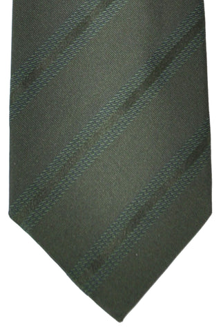 Corneliani Tie Dark Green Stripes SALE