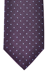 Corneliani Silk Necktie Purple Gray Dots