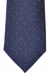 Corneliani Silk Necktie Metallic Gray Dots