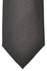 Corneliani Silk Necktie Dark Gray Brown