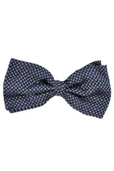 Corneliani Bow Tie Navy Pink Geometric