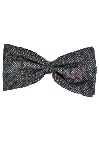 Corneliani Bow Tie Gray Maroon Stripes
