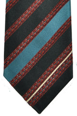 Corneliani Tie Teal Stripes