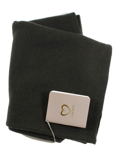 Cruciani Cashmere Scarf Solid Dark Gray-Brown